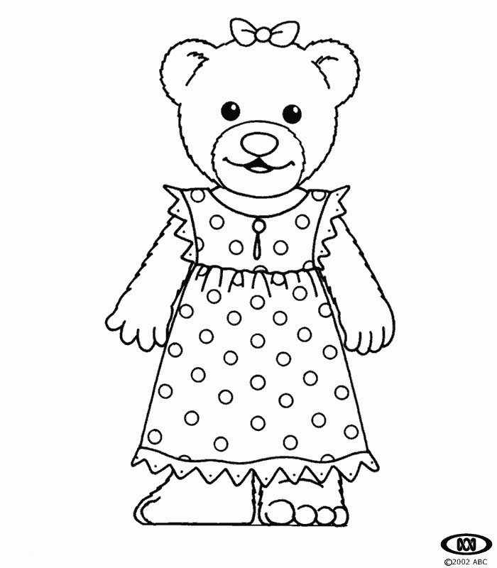 17 best images about pyjama day teddy bear picnic on for Pajama coloring page