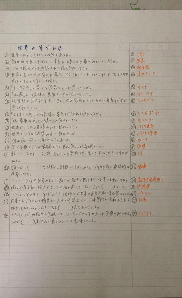 理科 ノート 中 2