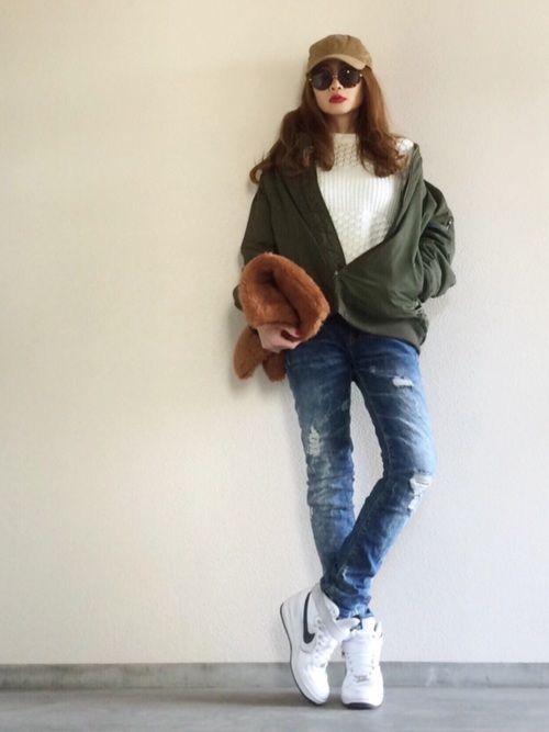GUのジャケット/アウターを使ったYukie♡iのコーディネートです。WEARはモデル・俳優・ショップスタッフなどの着こなしをチェックできるファッションコーディネートサイトです。