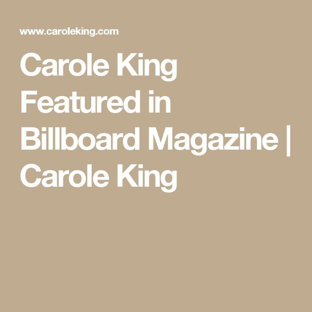Carole King Featured in Billboard Magazine | Carole King