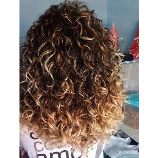 54 Nice Cute Curly Hairstyles for Medium Hair 2017 ❤ liked on Polyvore featuring beauty products, haircare, hair styling tools and curly hair care