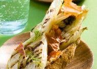 Recept voor bruschetta met geroosterde venkel en rauwe ham