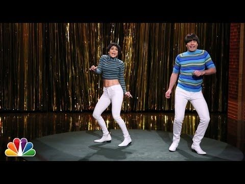 Jennifer Lopez and Jimmy Fallon Battle for Tight Pants Crown. Hilarious. If you like this, you will like the one win Will Ferrel too. May pin it too.