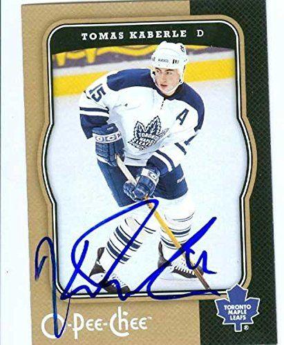 Maple Leafs Tomas Kaberle Autograph