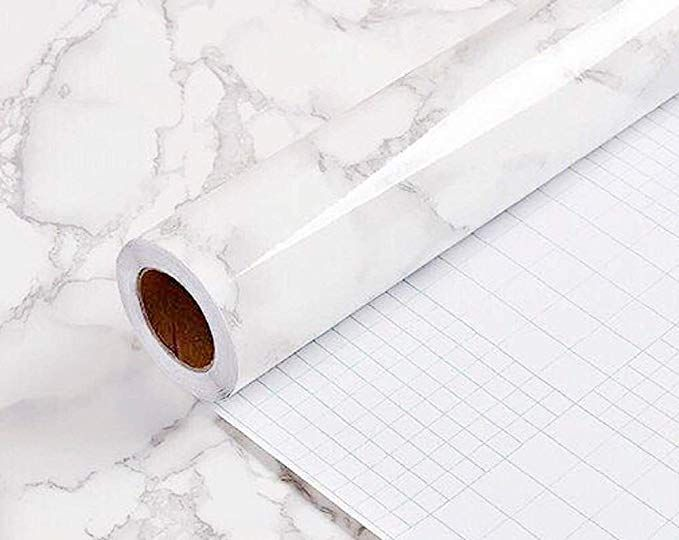 Yancorp Marble Contact Paper Removable Wallpaper Film Self