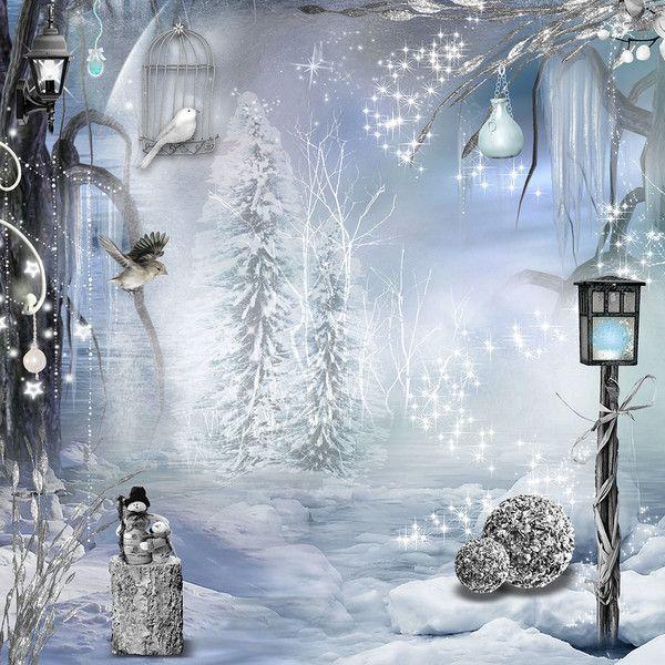 Très beau fond hivernal