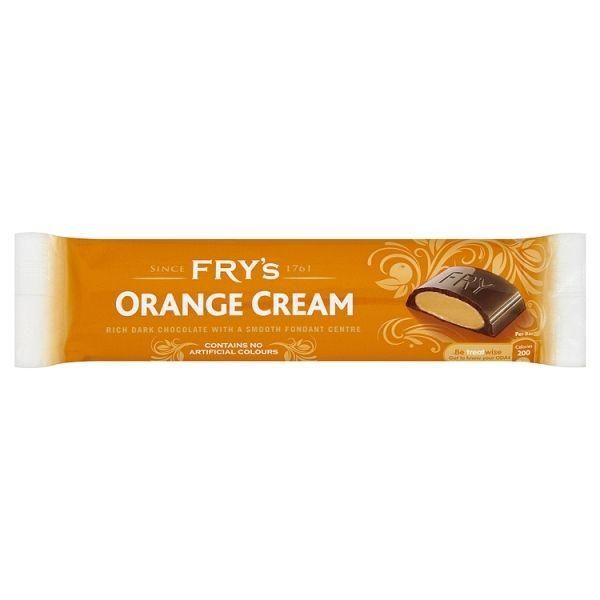 Fry's Orange Cream Sisältää: Soija, maito Saattaa sisältää: Pähkinöita, vilja