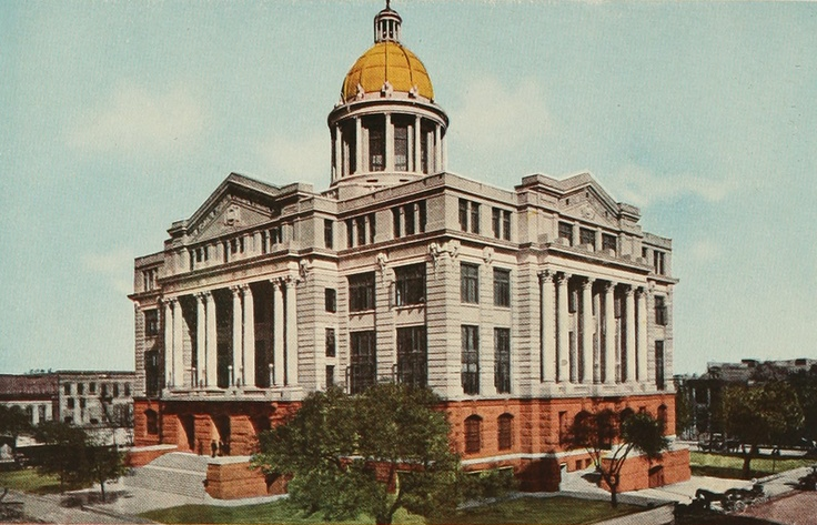 Old Harris County Courthouse in Houston, Texas When I was 8 years old I was walking in front of the Old Courthouse with my mom on the way to Woolworth on Main. My mom was holding my hand and I looked down and saw a dollar bill on the sidewalk. That was a magical moment for me and I gave my mom the dollar because we needed the money then.  As an attorney 40 years later the Old Courthouse has always been lucky for me.
