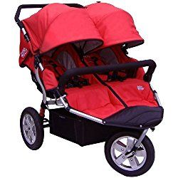 Tike Tech Double City X3 Swivel Stroller, Alpine Red