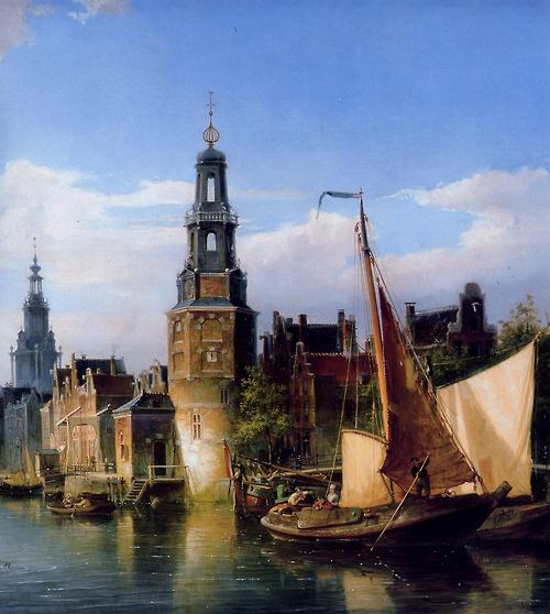 Cornelis Christiaan Dommelshuizen - The Montelbaans Tower Amsterdam