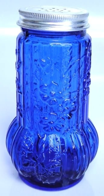 Cobalt Blue Glass Floral Cinnamon Sugar Shaker | eBay