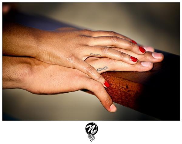 Infinity Wedding Ring Tattoos: Infinity #tattoo #wedding_rings