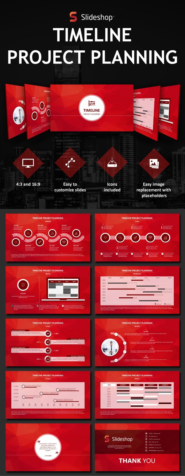 Timeline Project Planning - PowerPoint Templates Presentation Templates