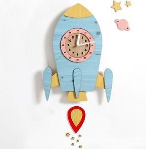 Rocket Clock Nursery Home Decor часы,ساعة الحائط, Wanduhr reloj de pared jam dinding นาฬิกาแขวน שעון קיר muurklok horloge murale divar saatı relógio
