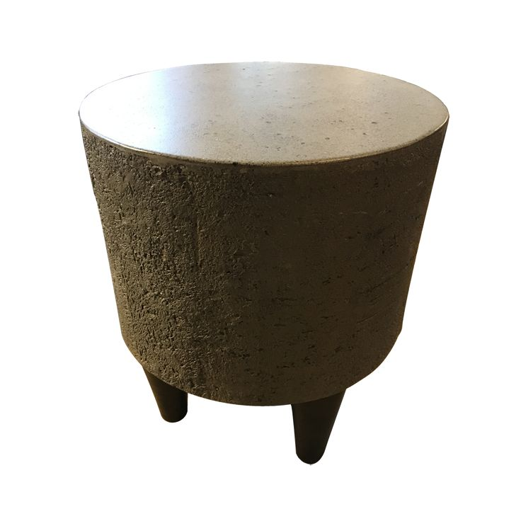 Take a seat! The Conwood Stool goes perfectly with any of our concrete tv console or side tables, or use it alone, as an end table.