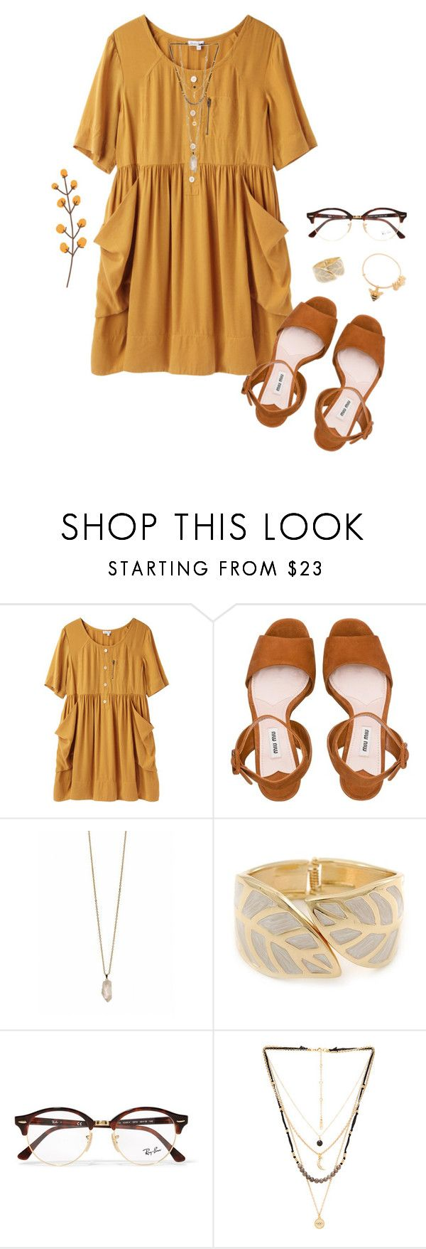 """""""wishing it was fall right now🍂"""" by caprirunyan ❤ liked on Polyvore featuring Steven Alan, Miu Miu, Zoya, Ray-Ban, Ettika and Alex and Ani"""