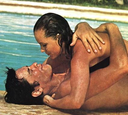 """""""La piscine"""" Alain Delon avec Romy Schneider"""