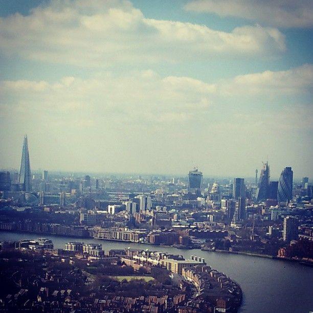 London skyline from level 39, Canary Wharf