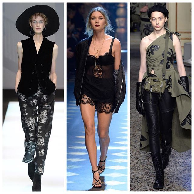 The best runway looks from Fall/Winter 2017/18 menswear shows in Milan./ Лучшие женские образы Emporio Armani Dolce&Gabbana и Moschino на Неделе мужской моды в Милане.  via VOGUE RUSSIA MAGAZINE OFFICIAL INSTAGRAM - Fashion Campaigns  Haute Couture  Advertising  Editorial Photography  Magazine Cover Designs  Supermodels  Runway Models