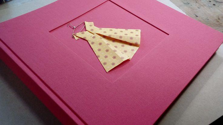 Photo Album with origami dress decoration