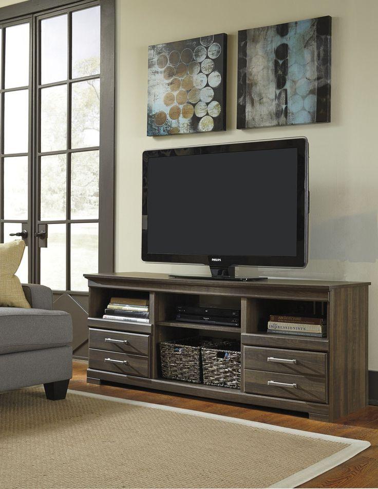 Ashley Furniture W129-68 Frantin LG TV Stand w/Fireplace Option | JACKS WAREHOUSE