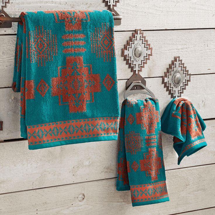 41 best southwestern bathrooms images on pinterest bath for Southwestern towel bars