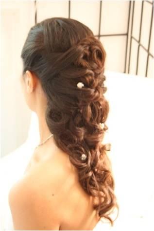 half up/half down hairstyle: Beautiful Makeup, Down Hairstyles, Down Wedding Hairstyles, Prom Stuff, Favorite Hairstyles, Prom Hairstyles, Hair Nails Makeup, Bridal Hairstyles, Bridesmaid Stuff