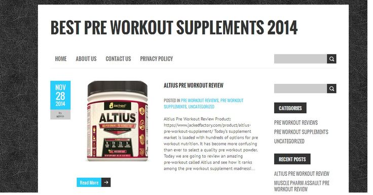 Best Pre Workout Supplements 2014 | Find Out The Best Pre Workout in Canada