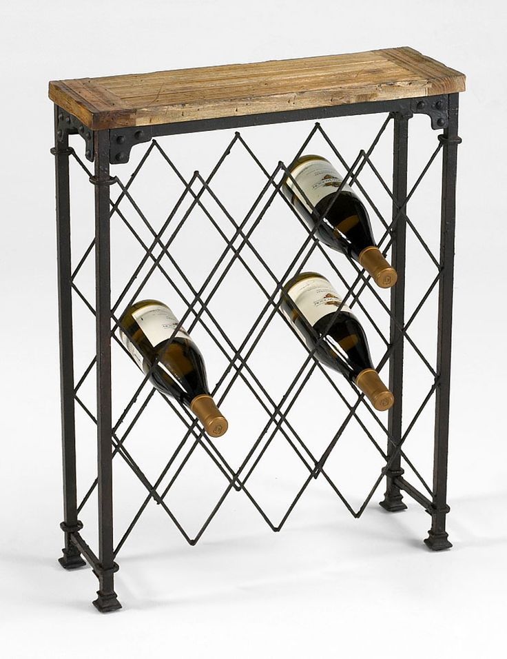 Nice wine rack that holds a lot but conserves space. From Cyan Design.  #creativityelevated