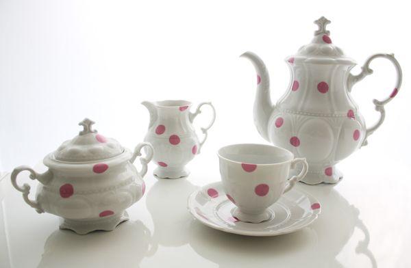 DesignToDesign -Pink Dots Tea Set #MOMCAVE