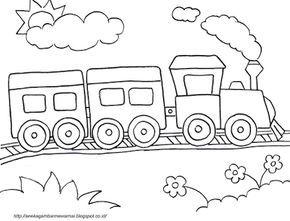 Aneka Gambar Mewarnai Gambar Mewarnai Kereta Api Untuk Anak Paud