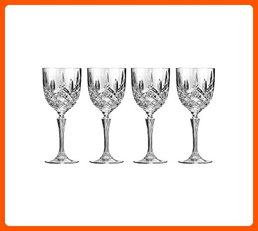 Set of 4 Marquis By Waterford Markham Wine Glasses - Beautifully Designed Short Stem Wine Glasses, Premium Crystal, Red and White Wine, 12 Ounces - Bar equipment (*Amazon Partner-Link)