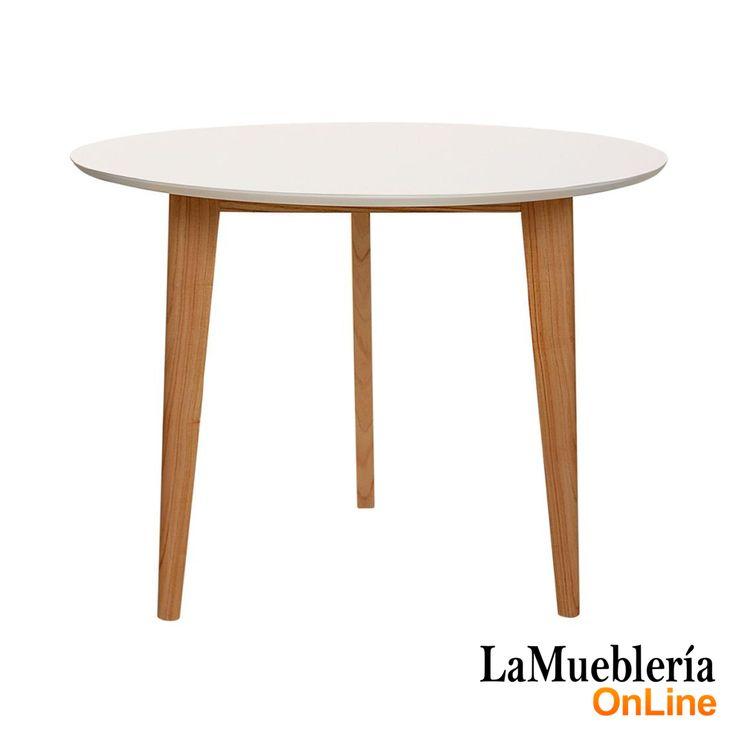 Mesa comedor madera modelo Odin redonda 80 en La Muebleria OnLine