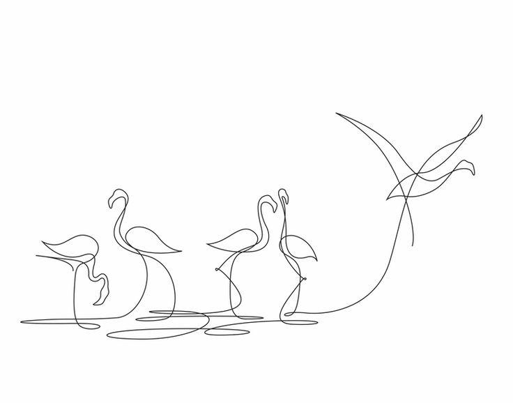 Ilustrando animais com apenas uma linha - Apenas uma linha contínua forma belos animais nas ilustrações do estúdio francês Differantly.