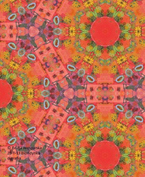 Pattern design_Blondynka, nr kat. 28-T-13, digrafia, Beata Wąsowska,