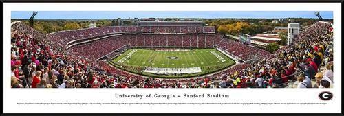 Georgia Bulldogs UGA Framed Panoramic Photo