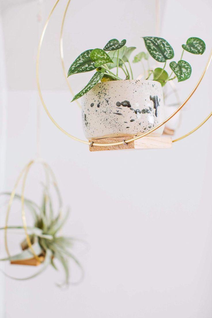 Brass Ring Hanging Planter DIY – A Beautiful Mess