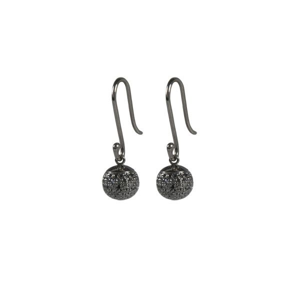 Eden Earhooks / Black Diamonds Pave