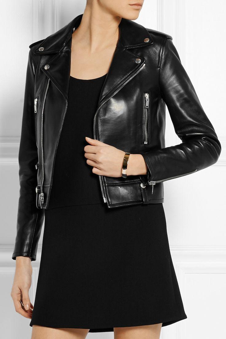 Saint Laurent|Leather biker jacket|NET-A-PORTER.COM
