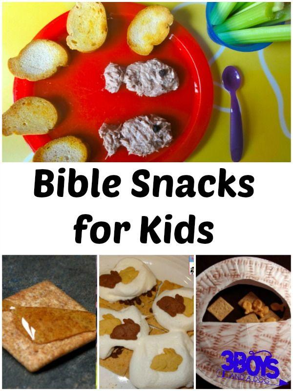 Bible Snacks for Kids