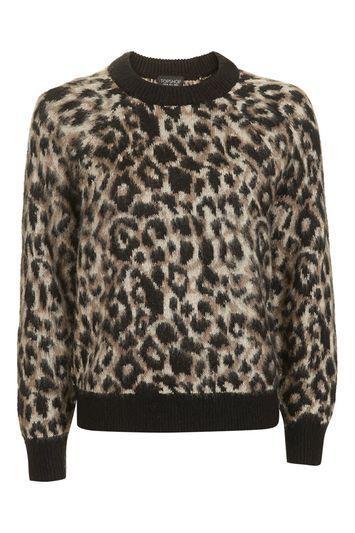 TOPSHOP Animal Mohair Jumper - £46.00