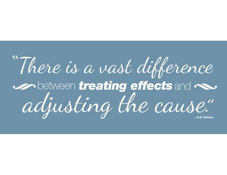 """This classic quote by D.D. Palmer regarding symptom treatment vs. finding the cause of dis-ease is featured in this 30"""" x 10"""" chiropractic decal. Available in black or white vinyl."""