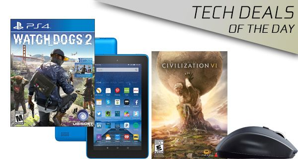 Tech Deals: 50% Off Watch Dogs 2, Logitech Wireless Mouse For $19, Civilization VI For PC, More  #CivilizationVIForPC #LogitechWirelessMouseFor$19 #More #TechDeals:50%OffWatchDogs2 #news