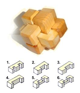 Mongolian wooden puzzle