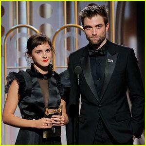 Emma Watson Reunites with Robert Pattinson at Golden Globes 2018! | 2018 Golden Globes, Emma Watson, golden globes, Robert Pattinson | Just Jared Jr.