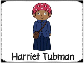 Harriet Tubman was an American abolitionist and humanitarian.This download includes a poster of Harriet Tubman (see cover page) and pages to help with your report about Harriet Tubman. Included are the following:PosterBubble Map2 Was, Had, Wanted Charts - (one with lines and one without)3 Choices of fact writing pages (1 with lines and a place to draw a picture, 1 with no lines and a picture included and one with a small picture and a place to draw a picture and write facts)There is also a…