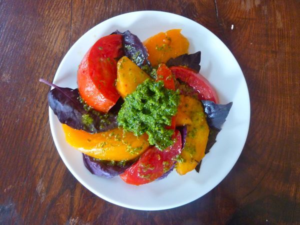 Tomato, Peach and Basil Salad Recipe | Healthy Recipes to Try | Pinte ...