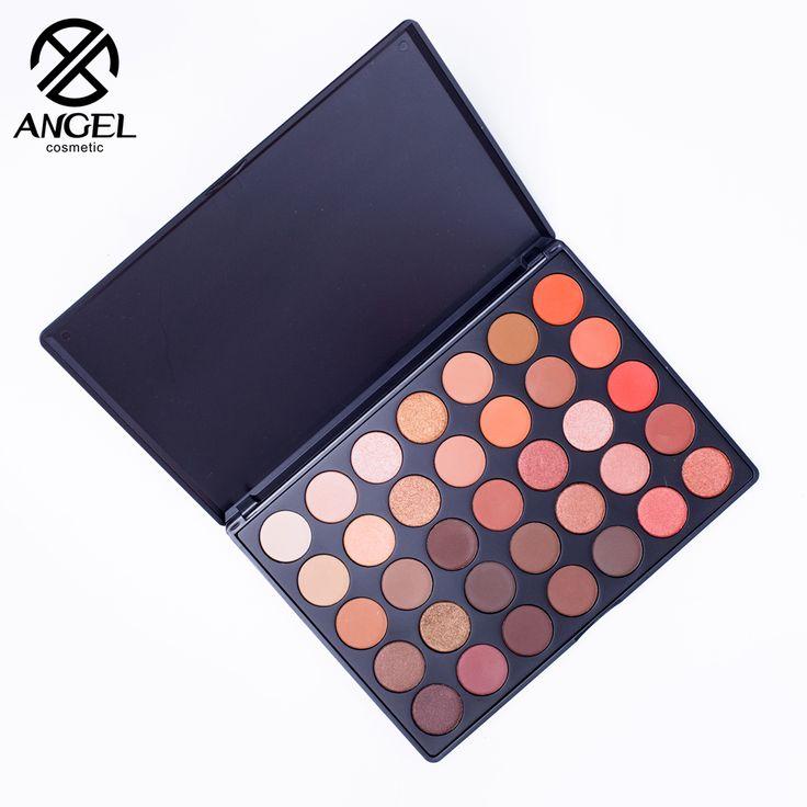 Angel косметика Новые 35 Цветов Shimmer Матовый тени для век Профессиональный Макияж Палитра Теней для век