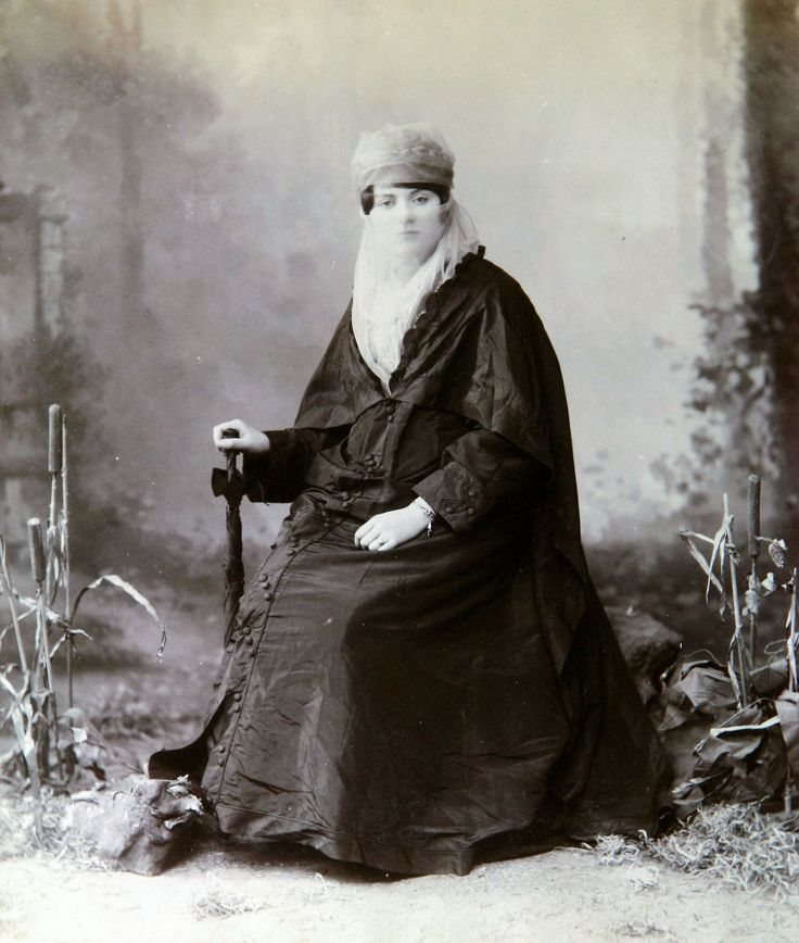 One albumen print, circa 1860-1870, of a seated Turkish woman, by Abdullah Bros. of Istanbul.    Vichen, Hovsep and Kevork Abdullah were a family of Ottoman Armenian photographers, known by their French name Abdullah frères, who operated a studio in Istanbul from 1858 to 1900. In 1863 they became official royal photographers to the Ottoman Sultan.