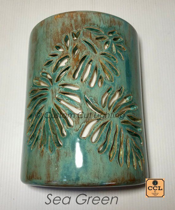 Tropical Leaf Outdoor Wall Sconce Curb